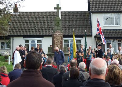 A Rembrance Sunday service at the Messingham War Memorial
