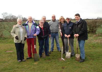 A group of volunteers about to start on the Jubilee Planting project in 2012