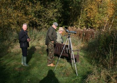 Bird watchers in the nature reserve near Messingham