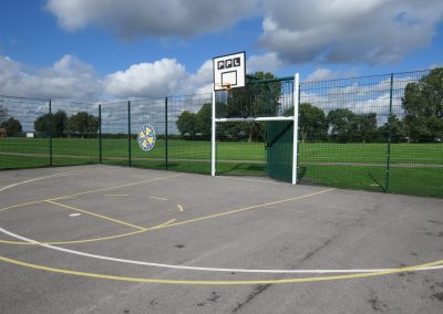 Outdoor mulit-use games area - with basket ball hoops, goal posts etc.